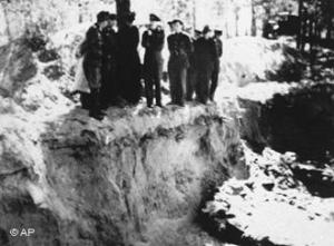 German troops discovered the mass grave in Katyn forest in 1943