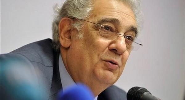 Plácido Domingo a budapesti sajtótájékoztatón. Fotó: AP