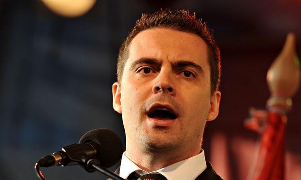Gábor Vona delivers, no doubt, another enlightened speech on race relations …
